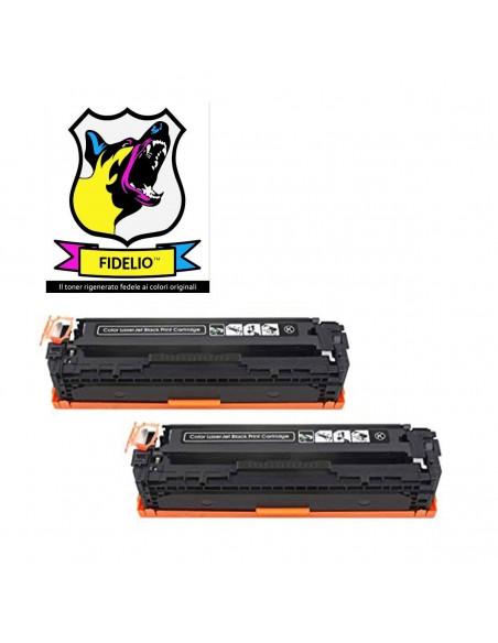 Compatibile con HP CB540AD 125A Toner FIDELIO Nero kit 2 pezzi