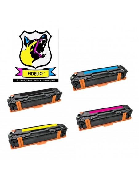 Compatibile con HP CB540A-41A-43A-42A 125A Toner FIDELIO Kit 4 Colori