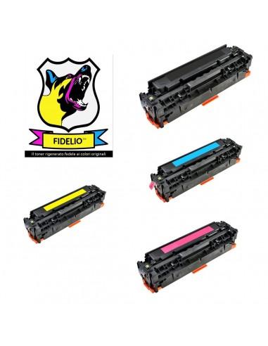 Compatibile con HP CC530A-31A-33A-32A-304A Toner FIDELIO Kit 4 Colori