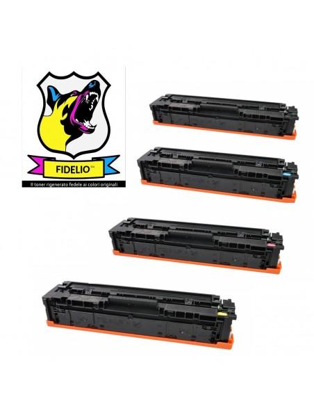 Compatibile con HP CF540A/41A/42A/43A 203A Toner FIDELIO Kit 4 Colori