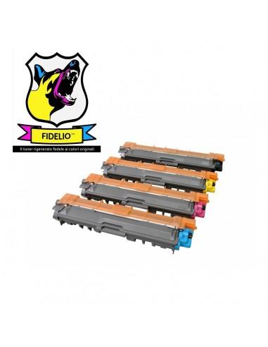 Compatibile con Brother TN241BK-TN245C-M-Y Toner FIDELIO Kit FIDELIO 4 Colori da 2500 pagine il Nero e 2200 pagine i colori
