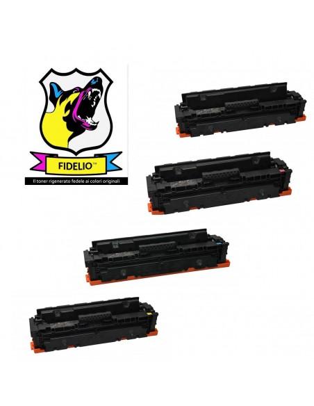 Compatibile con HP CF410X/11X/13X/12X Toner FIDELIO Kit 4 Colori da 6000-5000-5000-5000 pagine