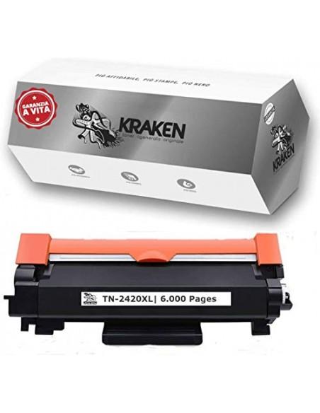 KRAKEN Toner Compatibile con Brother TN2420 XL da 6000 pagine Nero